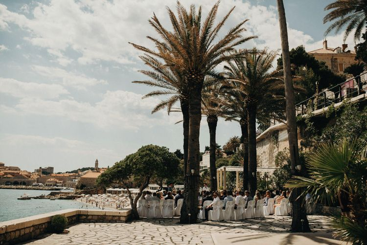 Palm Beach Terrace, Destination Wedding at Hotel Excelsior, Dubrovnik, Croatia | Jere Satamo Photography