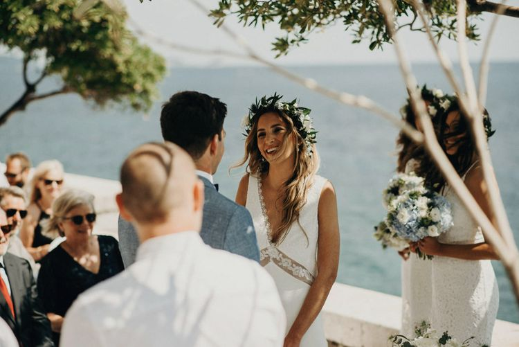 Outdoor Wedding Ceremony | Bride in Rime Arodaky | Jere Satamo Photography