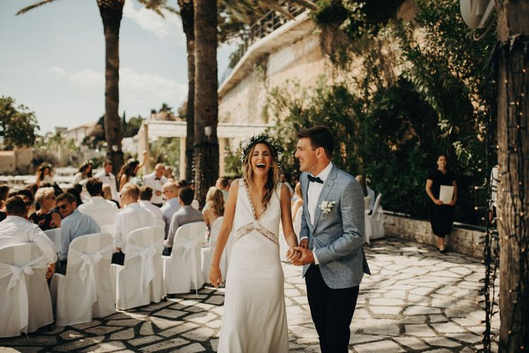Outdoor Wedding Ceremony | Bride in Rime Arodaky | Groom in Hugo Boss | Jere Satamo Photography