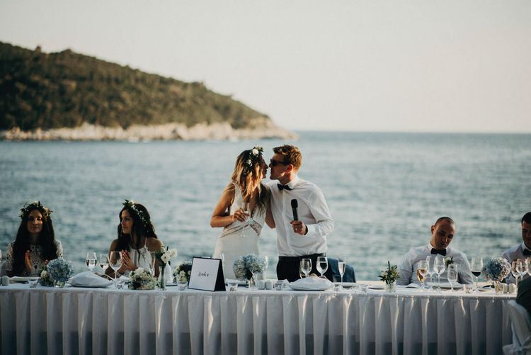 Top Table | Palm Beach Terrace, Destination Wedding at Hotel Excelsior, Dubrovnik, Croatia | Jere Satamo Photography