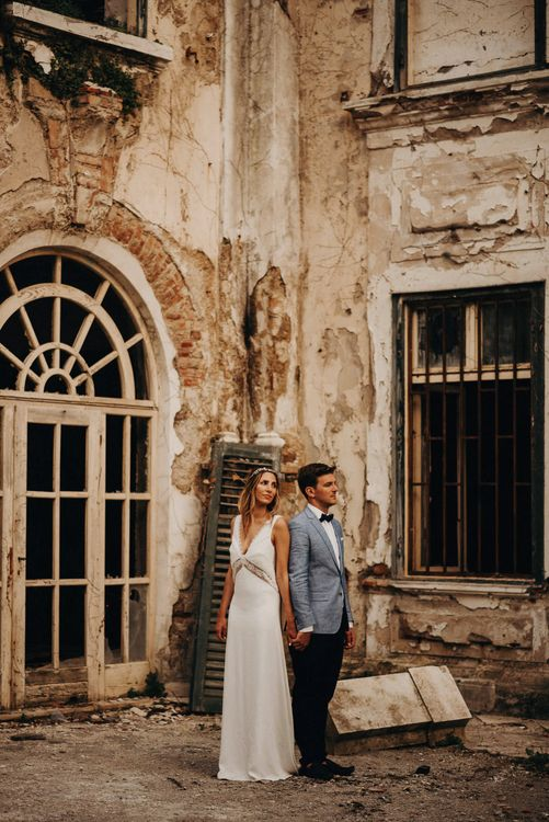 Bride in Rime Arodaky | Groom in Hugo Boss | Destination Croatia Wedding | Jere Satamo Photography