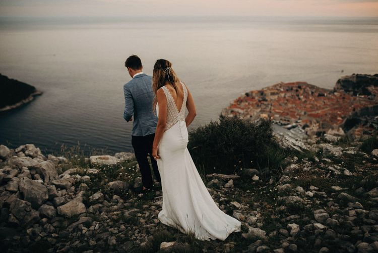 Bride in rime Arodaky Gown | Groom in Hugo Boss | Destination Croatia Wedding | Jere Satamo Photography