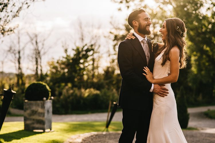 Sunset Portrait | Bride in Martina Liana Bridal Gown from Coco and Kate | Groom in Reiss Bespoke Tailoring Suit | Alex Tenters Photography