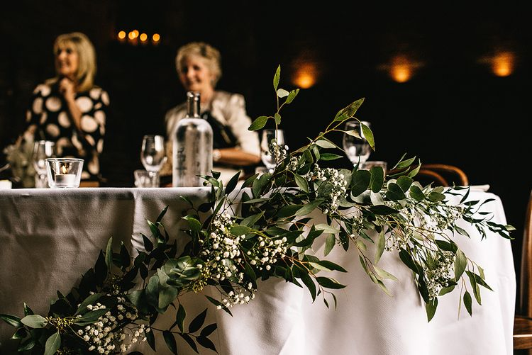 Greenery & White Flowers by Lilly White Florist | Alex Tenters Photography