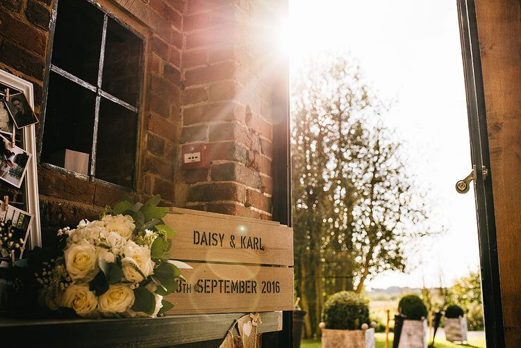 Personalised Wedding Crate | Alex Tenters Photography