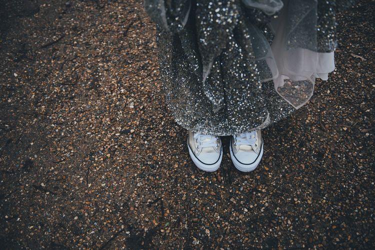 Bride in Converse Trainers