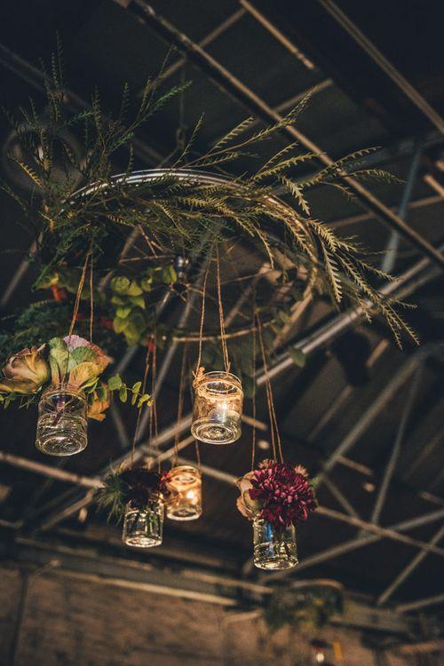 Hanging Chandelier Wedding Decor