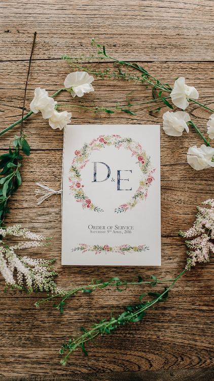 Floral Illustrated Wedding Stationery // Elegant Wedding At Wasing Park With Bride In Embellished Temperley Bridal Gown With Fine Art Images From Grace And Blush Film By Mrs Mashup