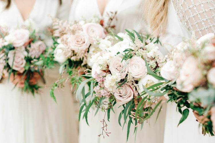 Pastel Wedding Bouquets // Elegant Wedding At Wasing Park With Bride In Embellished Temperley Bridal Gown With Fine Art Images From Grace And Blush Film By Mrs Mashup