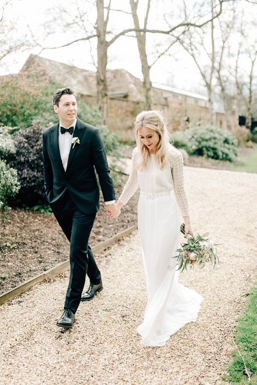 Black Tie Wedding // Elegant Wedding At Wasing Park With Bride In Embellished Temperley Bridal Gown With Fine Art Images From Grace And Blush Film By Mrs Mashup