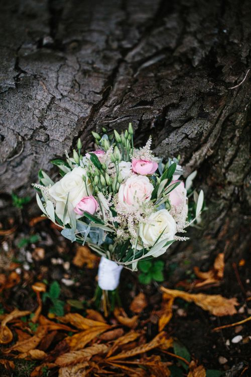 Structured Wedding Bouquet With Roses