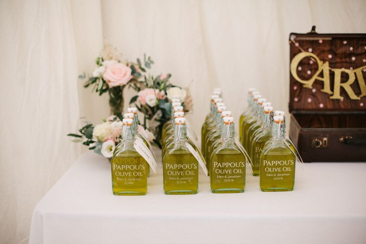 Homemade Olive Oil Wedding Favours