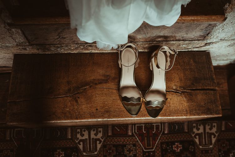 Loeffler Randall Shoes | DIY At Home Marquee Reception | Jess Soper Photography