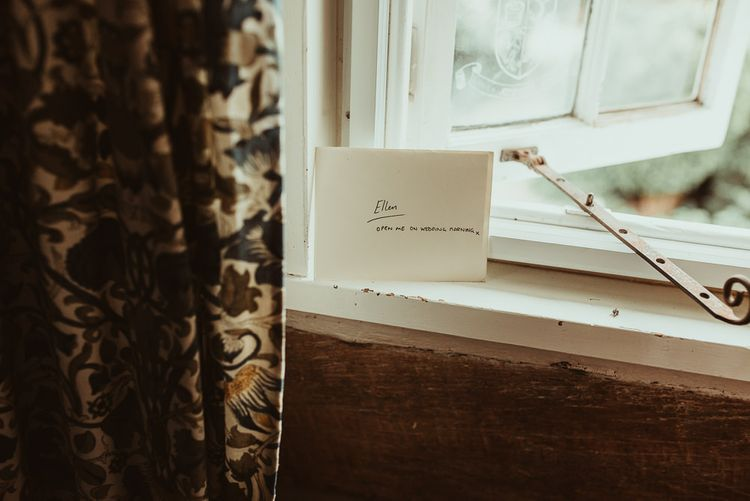 Wedding Morning Note | DIY At Home Marquee Reception | Jess Soper Photography