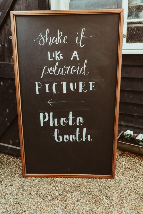Chalkboard Wedding Sign | DIY At Home Marquee Reception | Jess Soper Photography