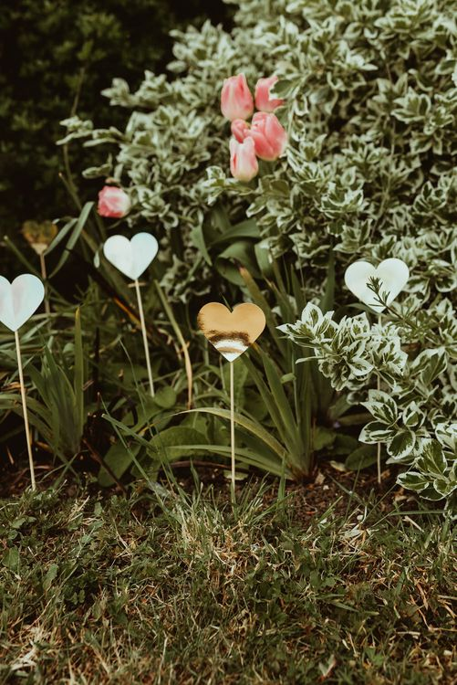 Heart Decor | DIY At Home Marquee Reception | Jess Soper Photography