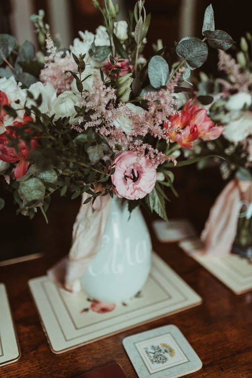 Jug of Flowers | DIY At Home Marquee Reception | Jess Soper Photography