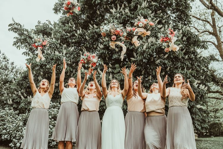 Bridal Party | DIY At Home Marquee Reception | Jess Soper Photography