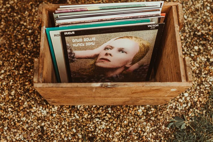 Vintage Records | DIY At Home Marquee Reception | Jess Soper Photography