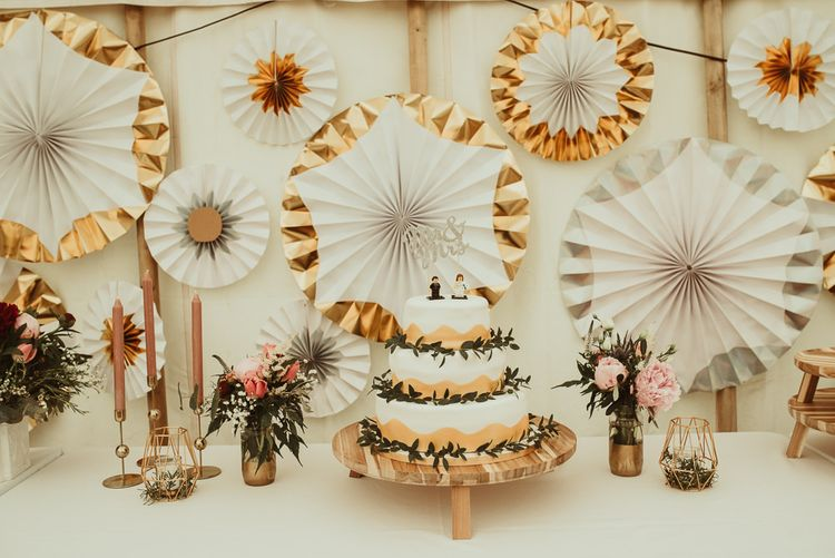 Homemade Wedding Cake | DIY At Home Marquee Reception | Jess Soper Photography
