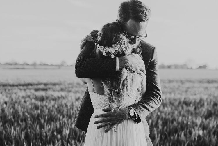 Bride in Catherine Deane Bridal Separates, Havanna Corset & Anika Skirt | Groom in Reiss Suit | Jess Soper Photography