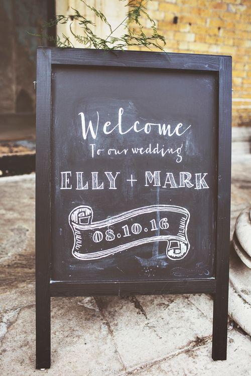 Chalkboard Welcome Sign To Wedding