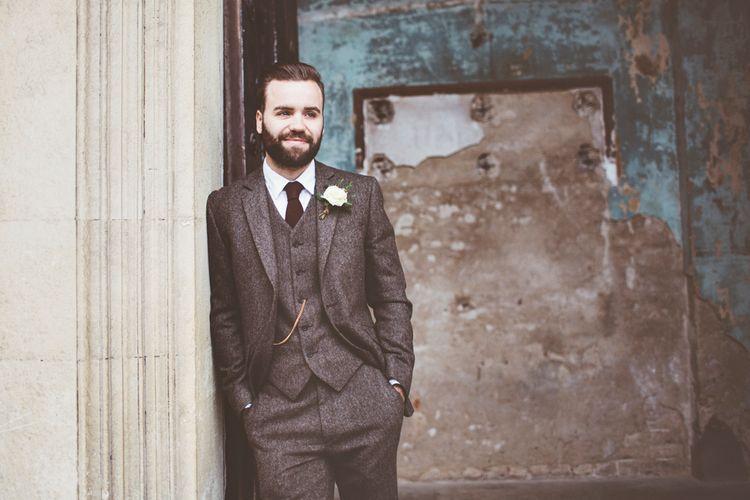 Groom In Tweed Suit by Walker Slater