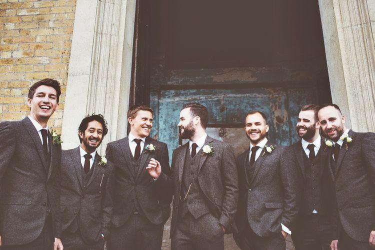 Groom & Groomsmen In Tweed