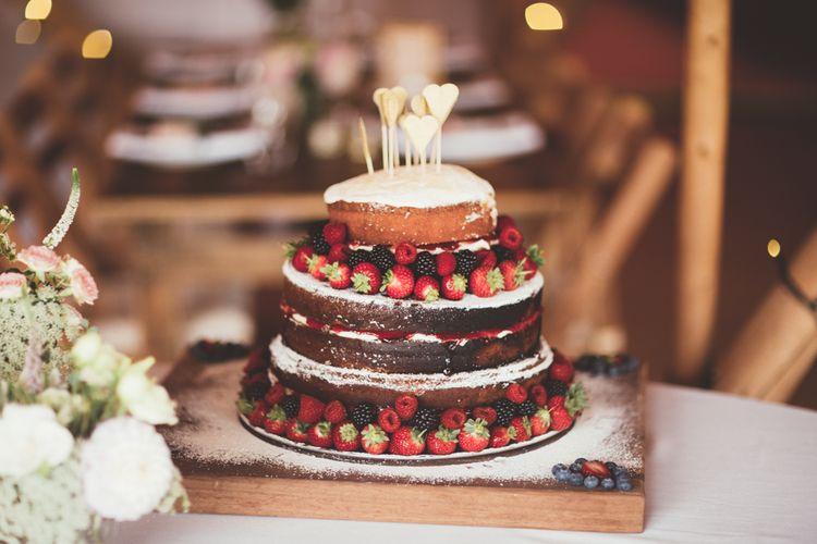 Homemade Naked Wedding Cake | Maryanne Weddings Photography