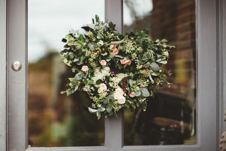 Foliage & Flower Heart Wreathe | Maryanne Weddings