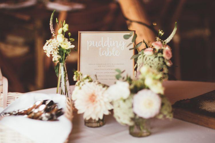 Dahlia Flower Stems in Jars | Maryanne Weddings Photography