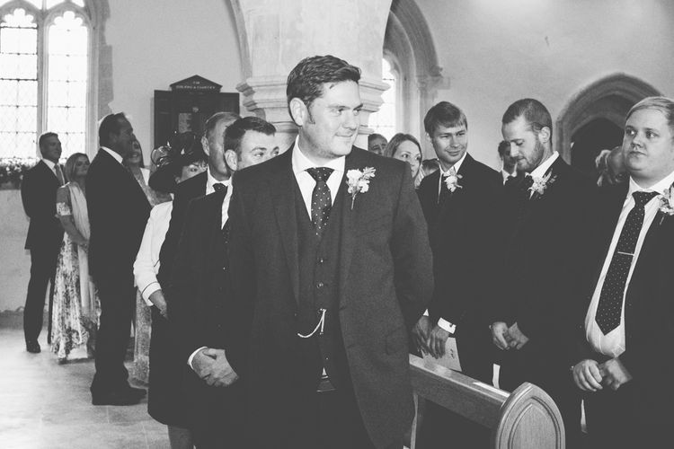 Groom in Marks and Spencer Suit at the Altar | Maryanne Weddings Photography