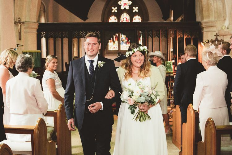 Church Wedding Ceremony | Bride in Something Old Something New Bridal Gown | Groom in Marks and Spencer Suit | Maryanne Weddings Photography