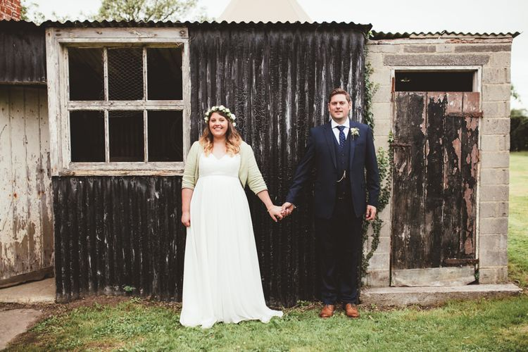 Bride in Something Old Something New Bridal Gown | Groom in Marks and Spencer Suit | Maryanne Weddings Photography