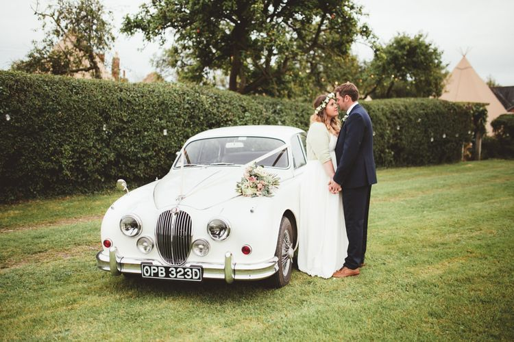 Vintage Wedding Car | Bride in Something Old Something New Bridal Gown | Groom in Marks and Spencer Suit | Maryanne Weddings Photography