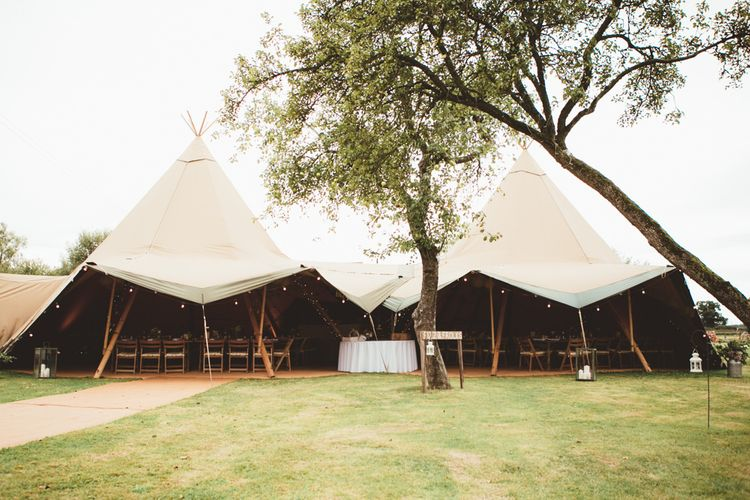 At Home Tipi Wedding Reception | Maryanne Weddings Photography