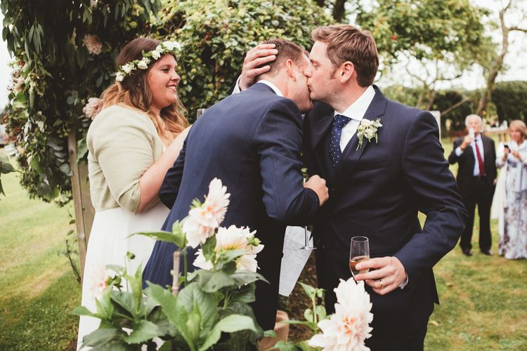 Floral Arch | Outdoor Wedding Speeches | Maryanne Weddings Photography