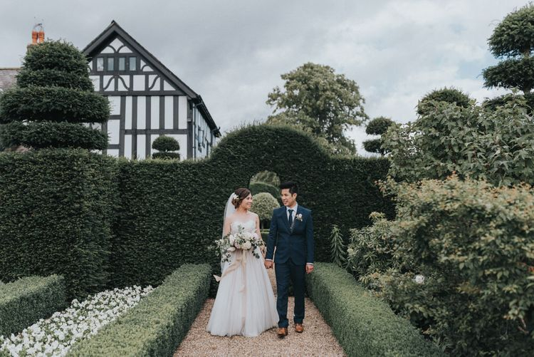 Outdoor Wedding Ceremony At The Holford Estate Knutsford With Elegant Pastel And Copper Details Bride In Penelope By Watters Images Petal & Blush