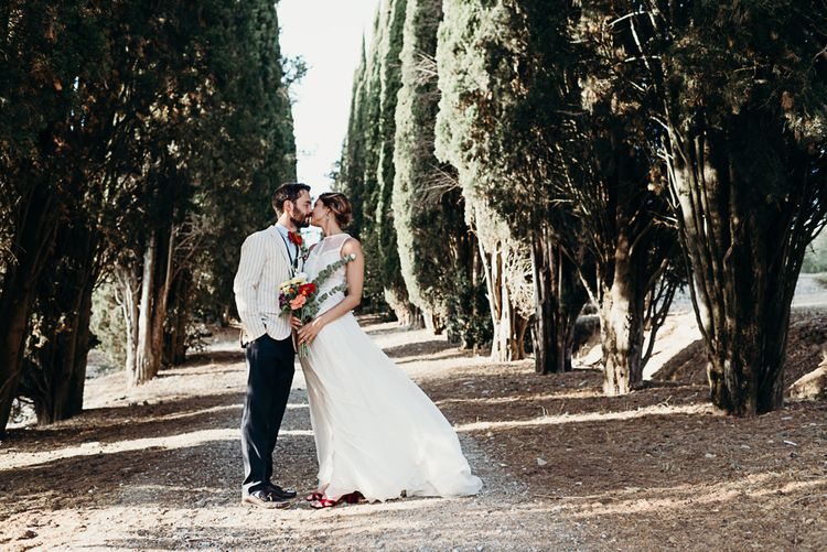 Destination Wedding Italy At Villa Catignano With Bride In Yolan Cris With Bridesmaids In Embellished Floral Gowns & Images Will Patrick Weddings