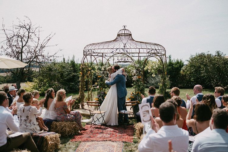Country Wedding in French farmhouse. Photography by Marcos Sanchez with Bride in Leanne Marshall.