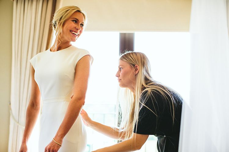 Bridal Preparations At Home Greenery Filled Marquee Wedding in Yorkshire | Craig Williams Photography