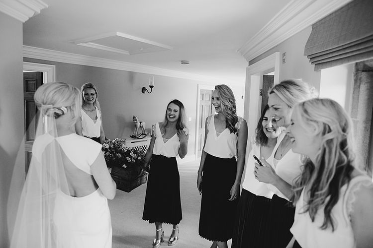 Bridal Preparations | At Home Greenery Filled Marquee Wedding in Yorkshire | Craig Williams Photography