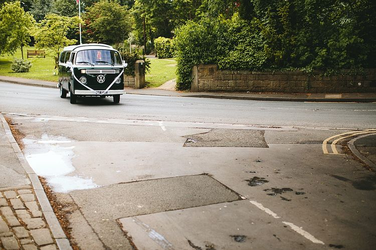 Volkswagen Cmapervan | At Home Greenery Filled Marquee Wedding in Yorkshire | Craig Williams Photography