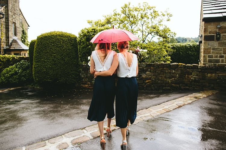 Bridesmaid Separates | At Home Greenery Filled Marquee Wedding in Yorkshire | Craig Williams Photography