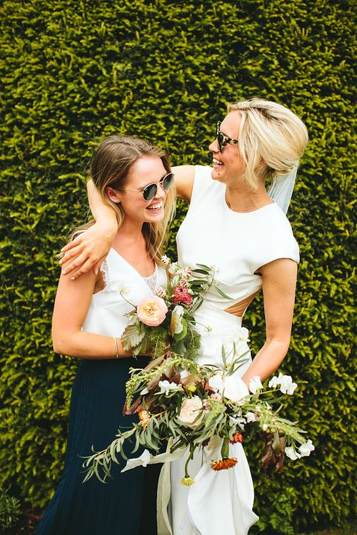 Besties | At Home Greenery Filled Marquee Wedding in Yorkshire | Craig Williams Photography