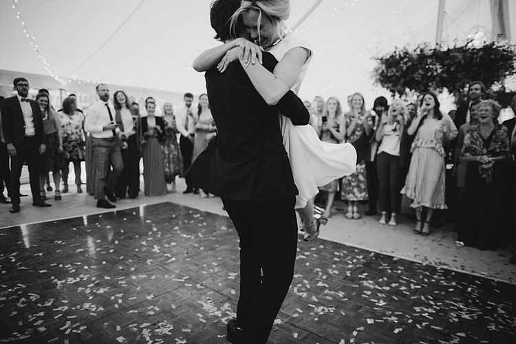 First Dance | At Home Greenery Filled Marquee Wedding in Yorkshire | Craig Williams Photography