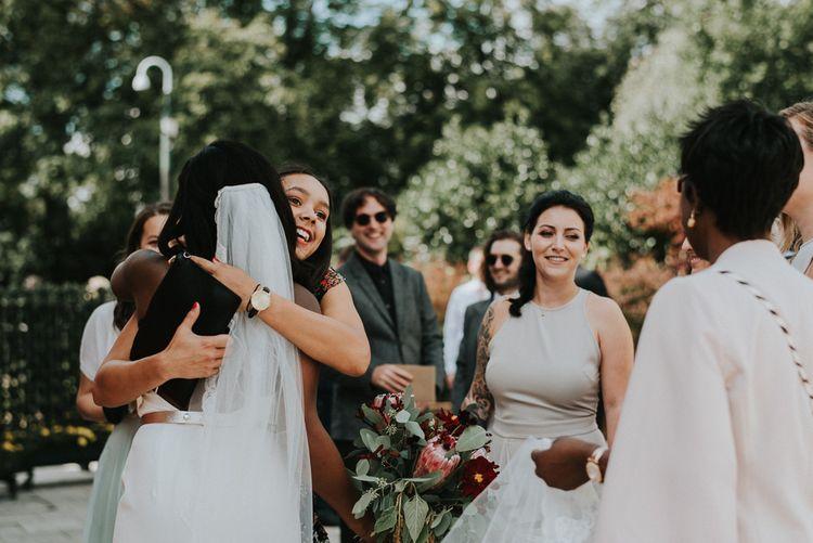 Bride in Charlie Brear Gown | Botanical Orangery Wedding at Horniman Museum & Gardens, London | Fern Edwards Photography