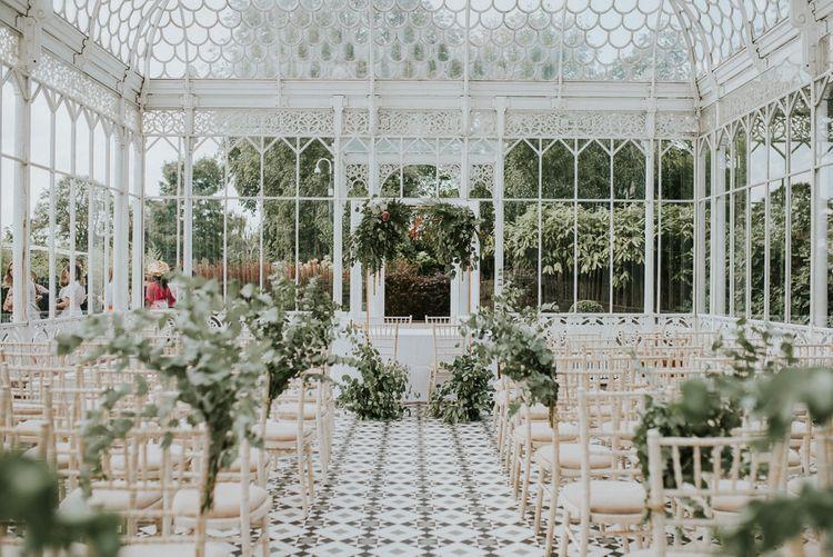 Aisle Style | Greenery Decor | Botanical Orangery Wedding at Horniman Museum & Gardens, London | Fern Edwards Photography
