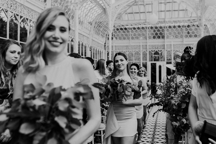 Wedding Ceremony | Guests | Botanical Orangery Wedding at Horniman Museum & Gardens, London | Fern Edwards Photography