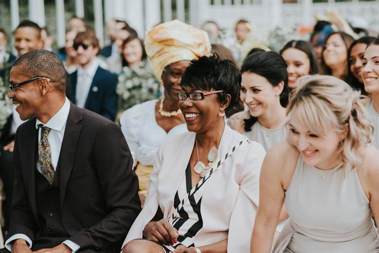 Wedding Ceremony | Wedding Guests | Botanical Orangery Wedding at Horniman Museum & Gardens, London | Fern Edwards Photography